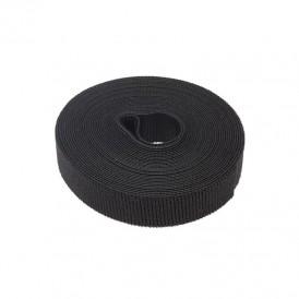 Лента-липучка многоразовая 5 м х 20 мм, черная (1 шт.) REXANT
