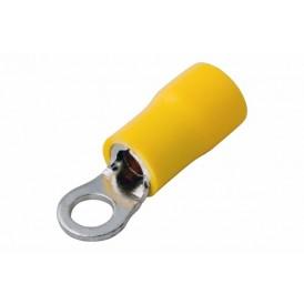 Наконечник кольцевой изолированный ø 4.3 мм 4-6 мм² (НКи 6.0-4/НКи5,5-4) желтый REXANT