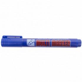Маркер перманентный Crown «Multi Marker» 3 мм, синий, пулевидный