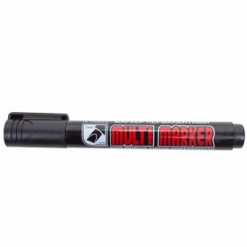 Маркер перманентный Crown «Multi Marker Chisel» 5 мм, черный, скошенный