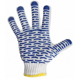 Перчатки х/б с нанесением ПВХ («Волна»),  4 нити,  55-56 г,  7, 5 класс вязки