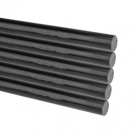 Стержни клеевые REXANT Ø 7 мм, 200 мм, черные, 1 кг (0.5 кг + 0.5 кг) (пакет)