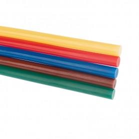 Стержни клеевые REXANT Ø 11 мм, 270 мм, цветные (10 шт./уп.) (хедер)