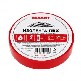 Изолента 15ммх25м Rexant 09-2104 красная