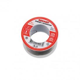 Припой с канифолью REXANT, 100 г, Ø0.5 мм, (олово 60%, свинец 40%), катушка, блистер