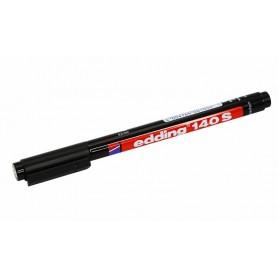 Маркер перманентный Edding-140 S 0.3мм (для пленок и ПВХ) чёрный
