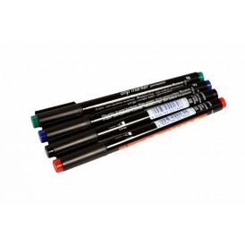 Набор маркеров E-140 permanent 0.3 мм (для пленок и ПВХ) набор: черный, красный, зеленый, синий