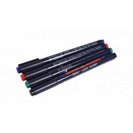 Набор маркеров E-8407#4S 0.3 мм (для маркировки кабелей) набор: черный, красный, зеленый, синий