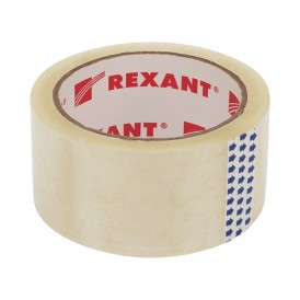 Скотч упаковочный REXANT 48 мм х 50 мкм, прозрачный, рулон 66 м