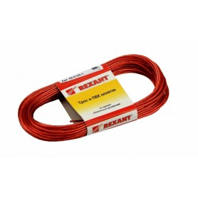 Трос стальной в ПВХ изоляции d=2мм, моток 20 метров Rexant 09-5120-1 красный