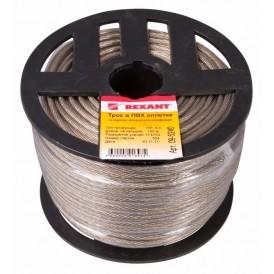 Трос стальной в ПВХ изоляции d=4мм Rexant 09-5240