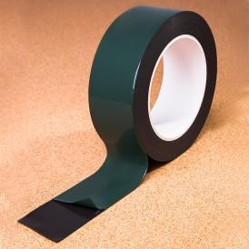 Двухсторонний скотч REXANT, черная, вспененная ЭВА основа, 40 мм, ролик 5 м