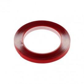 Двухсторонний скотч REXANT, прозрачный, на акриловой основе, 9 мм, ролик 5 м