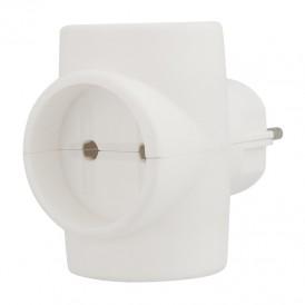 Евротройник электрический без заземления 220 В, 6A REXANT Индивидуальный пакет