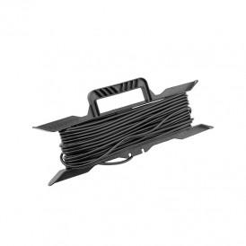 Удлинитель на рамке ПВС 2х0,75 мм², 50 м., черный  REXANT