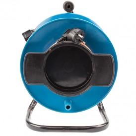 Удлинитель на катушке ПВС 2х1,0 мм², 30 м., оранжевый (газон)  REXANT