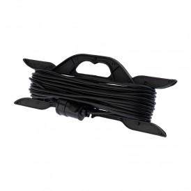 Удлинитель-шнур на рамке PROconnect ПВС 2х0.75, 20 м, б/з, 6 А, 1300 Вт, IP20, черный (Сделано в России)