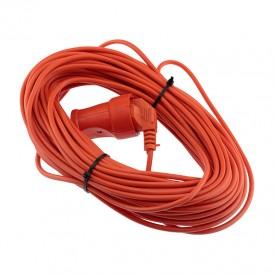 Удлинитель-шнур PROconnect ПВС 2х0.75, 30 м, б/з, 6 А, 1300 Вт, IP20, оранжевый (Сделано в России)