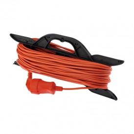 Удлинитель-шнур на рамке PROconnect ПВС 2х0.75, 30 м, б/з, 6 А, 1300 Вт, IP20, оранжевый (Сделано в России)