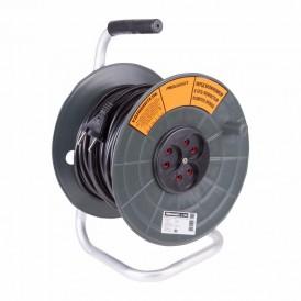 Удлинитель силовой на катушке 3 гнезда б/з 50 м 2х1 мм² STANDART PROCONNECT