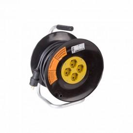 Удлинитель силовой на катушке 4 гнезда с/з 30 м 3х2,5 мм² PROFESSIONAL PROCONNECT