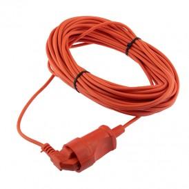 Шнур-удлинитель 20 метров оранжевый ПВС 2х0.75 мм² (6 А/1300 Вт) PROconnect