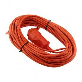 Шнур-удлинитель 20 метров оранжевый ПВС 3х0.75 мм² (6 А/1300 Вт/IP44) PROconnect