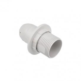 Патрон пластиковый термостойкий с кольцом Е14 белый c этикеткой REXANT