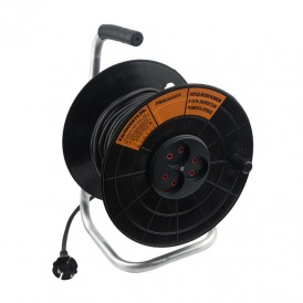 Удлинитель на катушке 50 м 2х0,75 мм² (3 розетки) PROconnect