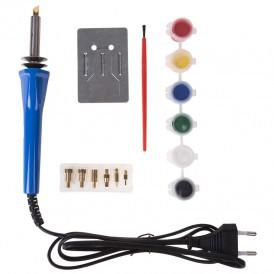 Выжигатель REXANT (набор паяльник-выжигатель),  7 насадок,  подставка,  кисточка,  краски 230 В/30 Вт