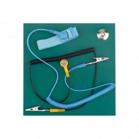 Коврик антистатический термостойкий 200х200х2. 5 мм с браслетом и гарнитурой