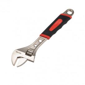 Разводной ключ REXANT 300 мм никелированный, двухкомпонентная рукоятка