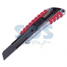 Нож с перовым лезвием,  5 запасных лезвий (скальпель) REXANT