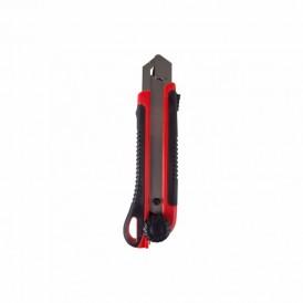Нож с сегментированным лезвием 25 мм,  корпус ABS пластик обрезиненный REXANT
