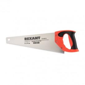 Ножовка по дереву REXANT «Зубец» 400 мм, 7-8 TPI, каленый зуб 2D, двухкомпонентная рукоятка