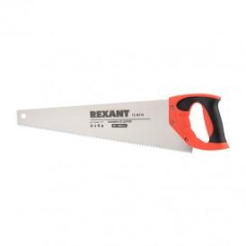 Ножовка по дереву REXANT «Зубец» 500 мм, 7-8 TPI, каленый зуб 2D, двухкомпонентная рукоятка