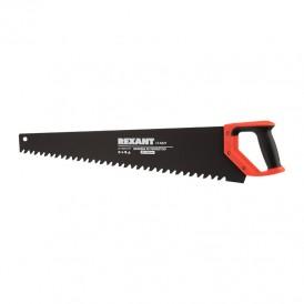 Ножовка по пенобетону REXANT 700 мм, защитное покрытие, твердосплавные напайки на зубья, двухкомпонентная рукоятка