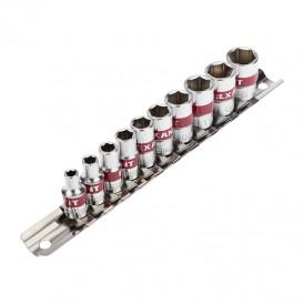 Набор торцевых головок REXANT 1/4, шестигранные, CrV, 10 шт., 4-13 мм