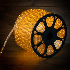 Дюралайт LED, постоянное свечение (2W) - желтый Эконом 24 LED/м , бухта 100м