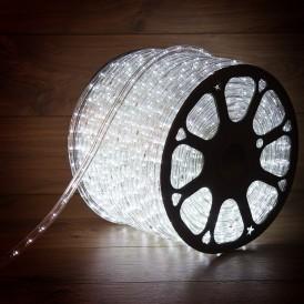 Дюралайт LED, эффект мерцания (2W) - белый, 36 LED/м, бухта 100м
