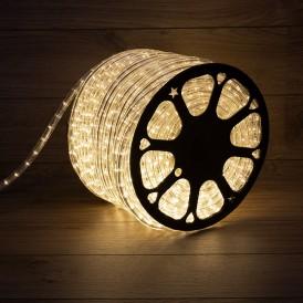 Дюралайт LED, эффект мерцания (2W) - ТЕПЛЫЙ БЕЛЫЙ, 36 LED/м, бухта 100м