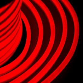 Гибкий Неон LED - красный, оболочка красная, бухта 50м Neon-night 131-022