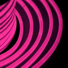 Гибкий Неон LED - розовый, оболочка розовая, бухта 50м Neon-night 131-027
