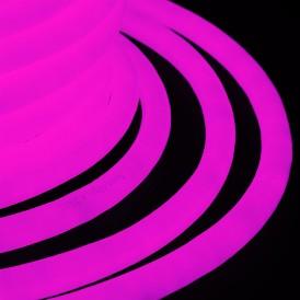 Гибкий Неон LED 360 (круглый) - розовый, бухта 50м Neon-night 131-037