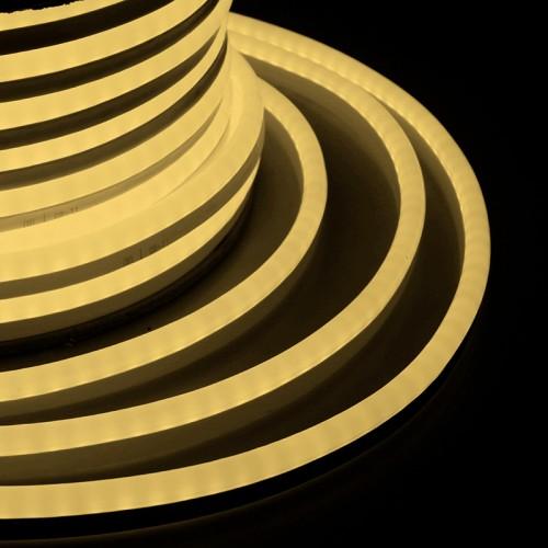 Гибкий Неон LED SMD, ТЕПЛЫЙ БЕЛЫЙ, 120 LED/м, бухта 50м |131-056| NEON-NIGHT