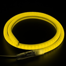 Гибкий Неон LED SMD 12х12 мм, форма - D, жёлтый, 120 LED/м,  бухта 100м