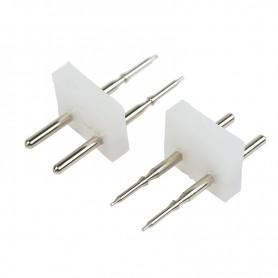Разъем-иглы для соединения гибкого неона 12х12мм на шнур/коннектор 134-033  NEON-NIGHT
