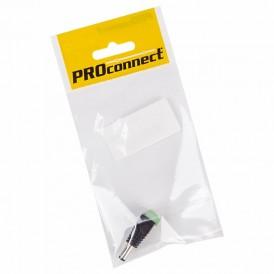 Разъем питание на кабель, штекер 2,1х5,5x10мм. с клеммной колодкой, (1шт.) (пакет)  PROconnect