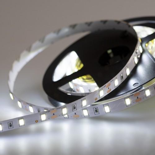 LED лента 12 В, 12 мм, IP23, SMD 5730, 60 LED/m, 12 V, цвет свечения белый (6000 K)