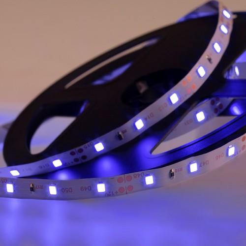 LED лента открытая, 8 мм, IP23, SMD 2835, 60 LED/m, 12 V, цвет свечения синий